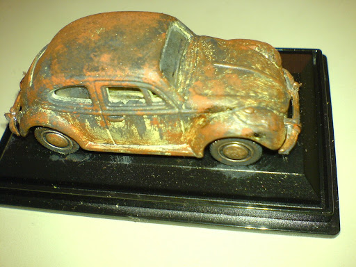 vw beetle rusty (rat style)