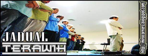 Jadual Terawih - Miro CornerZ