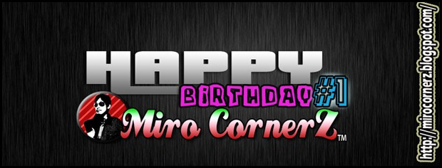 Happy Birthday Miro CornerZ