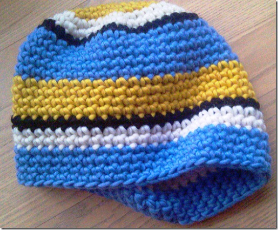 Crocheted Swedish OL Beanie