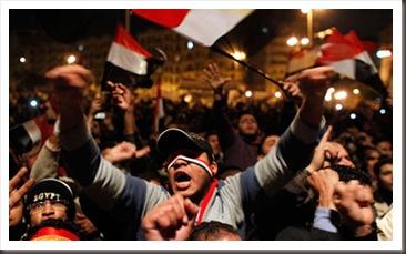 فرحة الشعب في التحرير