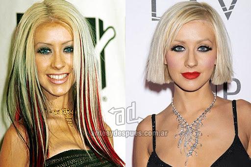 Antes y despues de Christina Aguilera - Corte de pelo, nuevo look