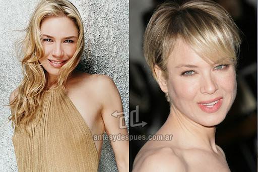 Antes y despues de Renee Zellweger - Corte de pelo, nuevo look
