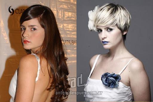 Antes y despues de Romina Ricci - Corte de pelo, nuevo look