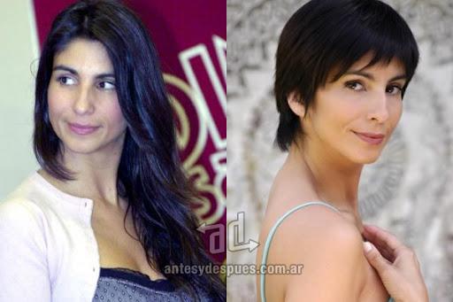 Antes y despues de Carolina Peleretti - Corte de pelo, nuevo look