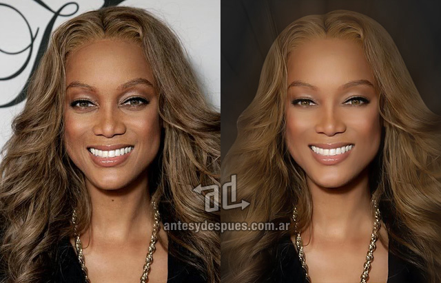 Tyra Banks sin Photoshop