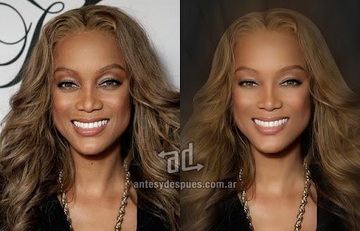 Tyra Banks sin Photoshop