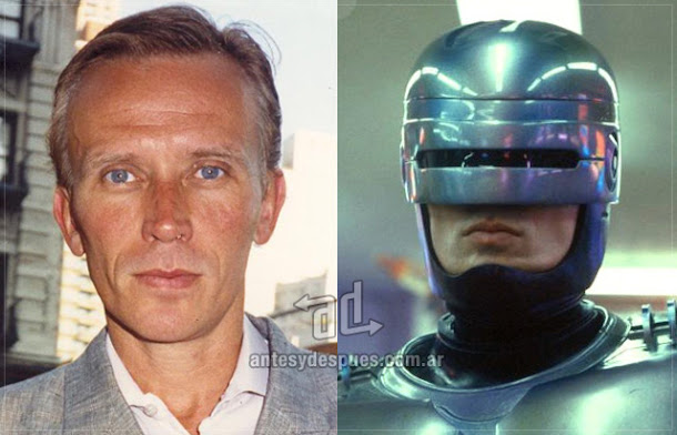 Peter Weller sin máscara