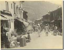 A bazaar scene in Simla, gelatin photo, 1890's