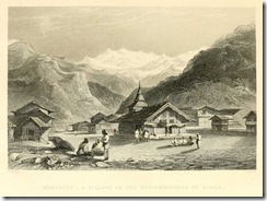 A Village near Simla, from vol. 3 of The Indian empire by Robert Montgomery Martin, c.1860