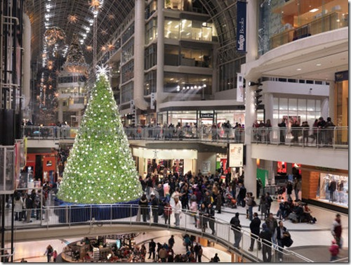 Christmas shopping at the Eaton Centre