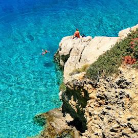 swiming in the blue lagoon by Boštjan Henigman - Landscapes Beaches ( enjoy, beach, swimming )