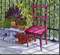 Pink Chair, Cortona