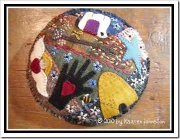 Wool Crazy Sampler Pincushion