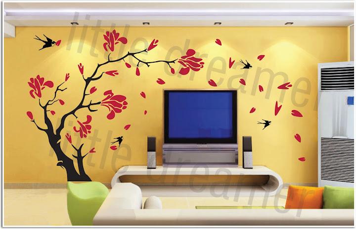 Vinyl Wall Art Decal Sticker flower for kids/girls room
