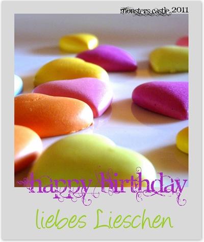 Happy Birthday Lieschen