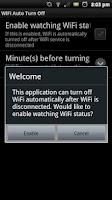 Screenshot of WiFi Auto Turn Off