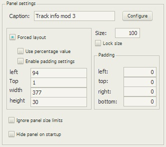 Track info mod 3の配置