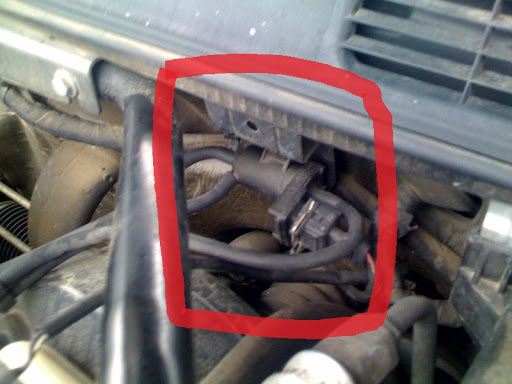 saab 9 3 temperature sensor location