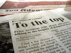 Sun Advocate newspaper article