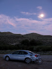 Back at the car in the moonlight