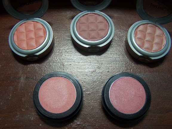 Top Left to Right: Soft Mink, Tender Blush and Rose Satin Bottom: Blushing Earth Sheer, Blushing Plum