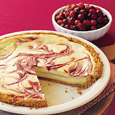 Cranberry Swirl Cheesecake Pie
