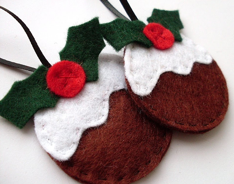 DIY figgy pudding Christmas ornaments. Cute!!