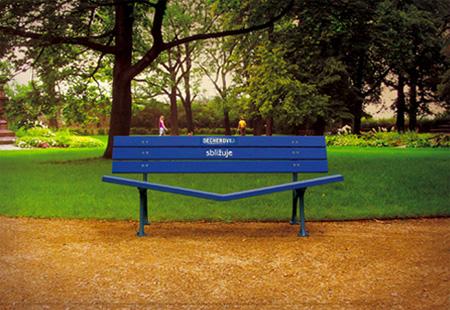 Becherovka Get Closer Bench Advertisement