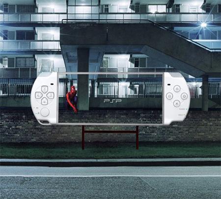 Transparent Billboards Promoting Sony PSP 5