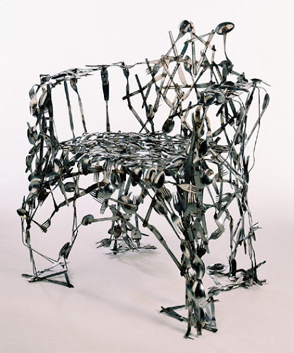 Cutlery Chair by Osian Batyka-Williams