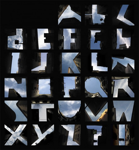 Sky Alphabet by Lisa Rienermann