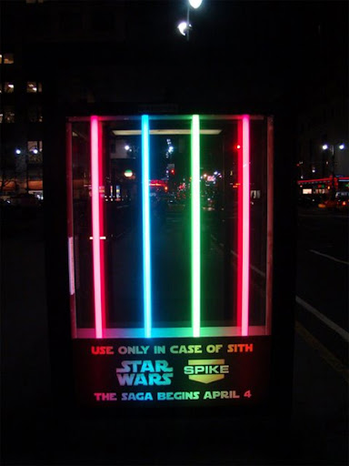 Star Wars Bus Stop Advertisement