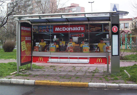 McDonalds Bus Stop Advertisement