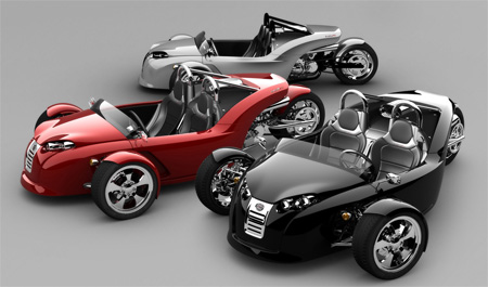 V13R Campagna Motors 3 Wheel Roadster
