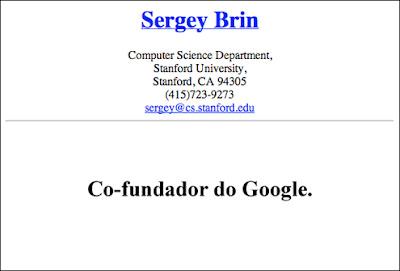 curriculo sergeybrin2 Currículo de um dos fundadores do Google