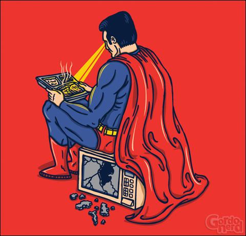 superman Esquentando o almoço