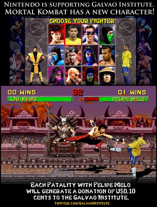 felipemelomortalkombat Felipe Melo no Mortal Kombat