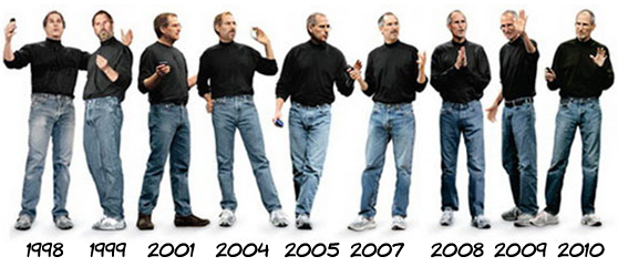 evolucaofashion stevejobs A evolução fashion de Steve Jobs