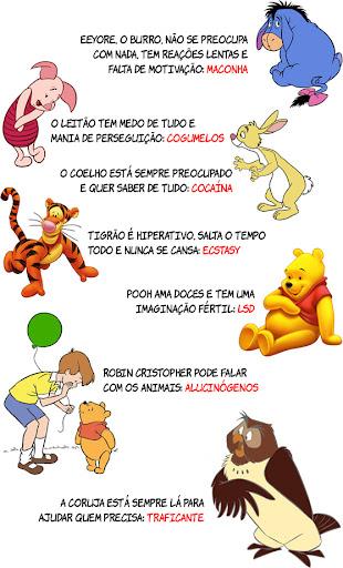ursinhopooh drogas 7 sinais de que os personagens das Aventuras do Ursinho Pooh usam drogas