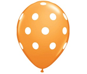 Balloon Orange Dots med
