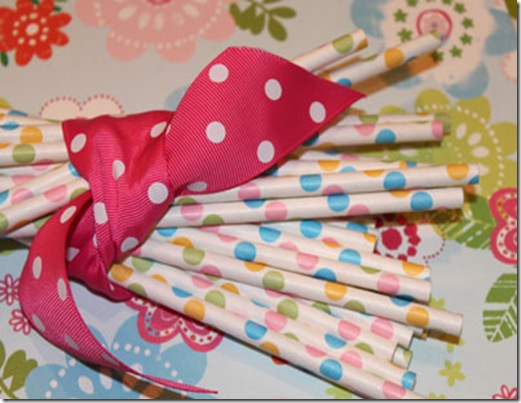 Paper Straws Confetti Dots Close 2