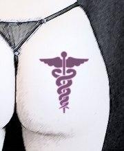 Caduceo tatuado
