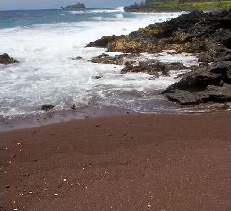 Red sand, Kaihalulu, Maui, Hawaii