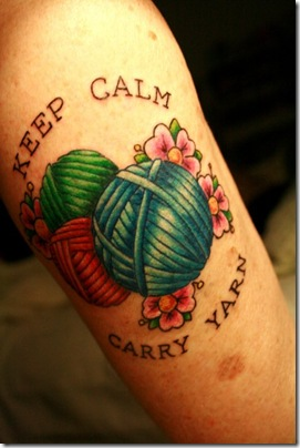 Keep calm, carry yarn