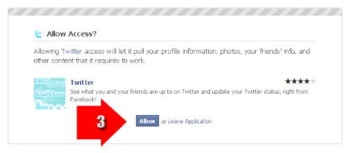 twitter in facebook applications, cara memasukan aplikasi twitter ke dalam facebook, menggunakan aplikasi twitter dalam facebook, update status sekaligus, update twitter di facebook