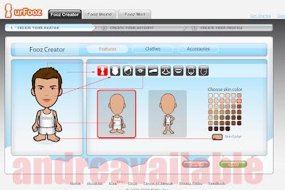 langkah membuat avatar, cara mudah membuat avatar, cara klik avatar, fooz avatar, fooz membuat avatar