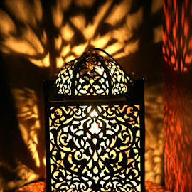Lamp shade by Leong Jeam Wong - Artistic Objects Furniture ( pattern, shadow, lamp, darkness, light,  )