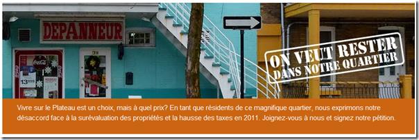 Montréal - On veut rester dans notre quartier