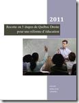 Éducation réforme 5 étapes